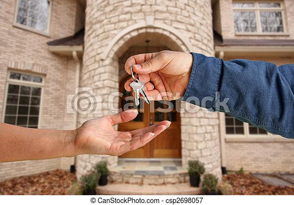 giren, stämm, hus, över, färsk, främre del, hem - csp2698057