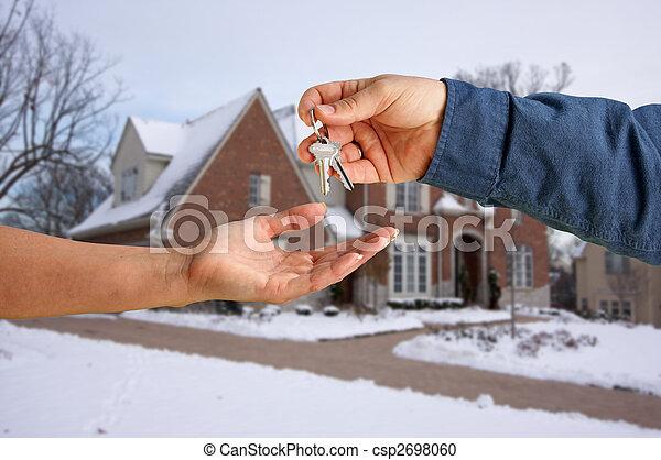 giren, stämm, hus, över, färsk, främre del, hem - csp2698060
