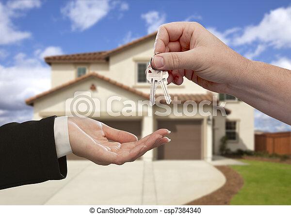 giren, stämm, hus, över, färsk, främre del, hem - csp7384340