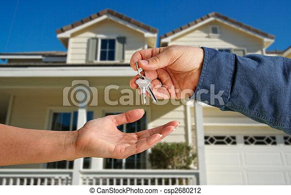 giren, stämm, hus, över, färsk, främre del, hem - csp2680212