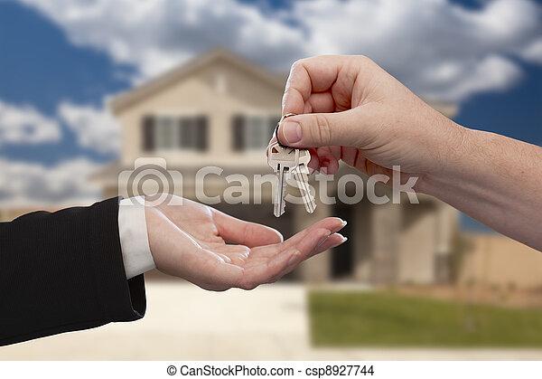 giren, stämm, hus, över, färsk, främre del, hem - csp8927744