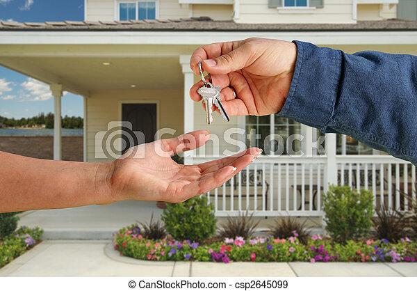 giren, stämm, hus, över, färsk, främre del, hem - csp2645099