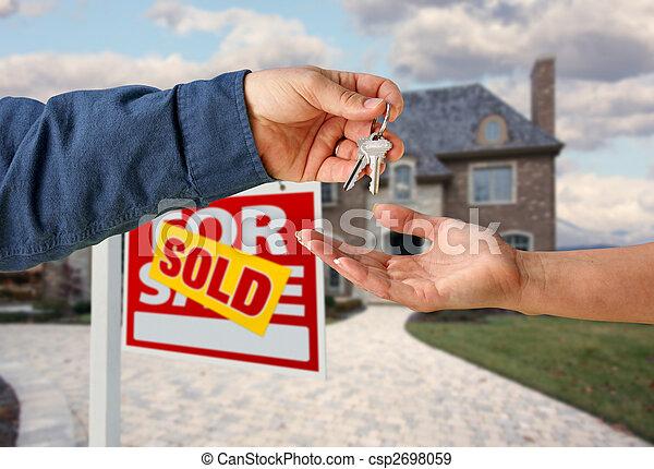 giren, stämm, hus, över, färsk, främre del, hem - csp2698059