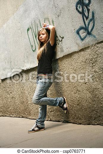 girl, -, adolescent - csp0763771