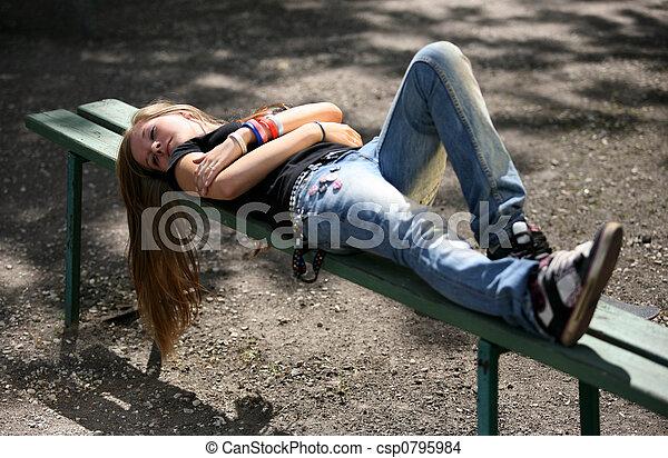 girl, -, adolescent - csp0795984