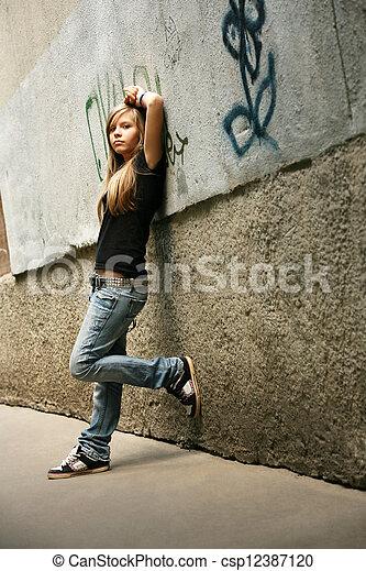 girl, -, adolescent - csp12387120