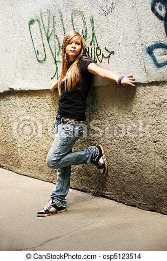 girl, -, adolescent - csp5123514