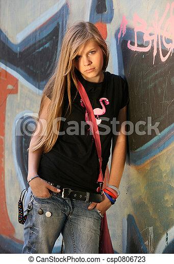 girl, -, adolescent - csp0806723