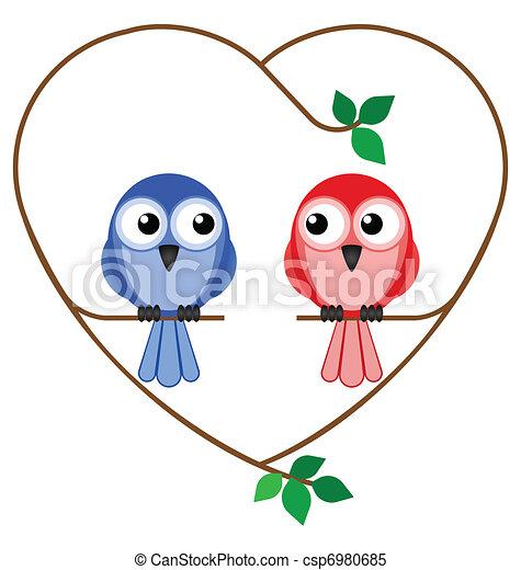 girl and boy birds  - csp6980685