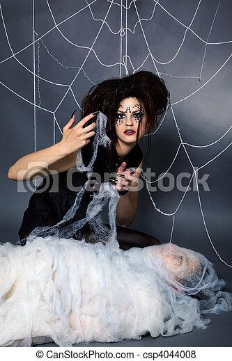 girl, araignés, victime - csp4044008