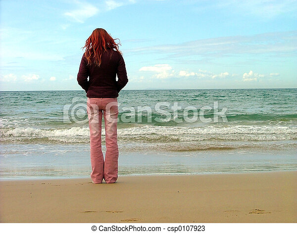 girl at beach - csp0107923