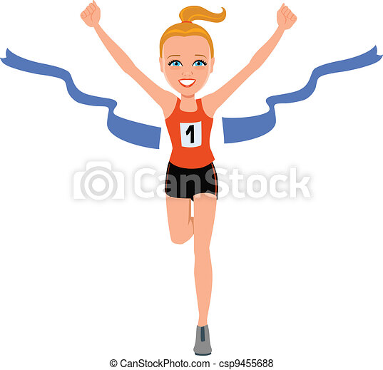 Girl at the Finishing Line - csp9455688