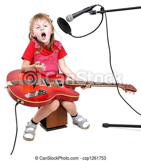 girl, audio, studio - csp1261753