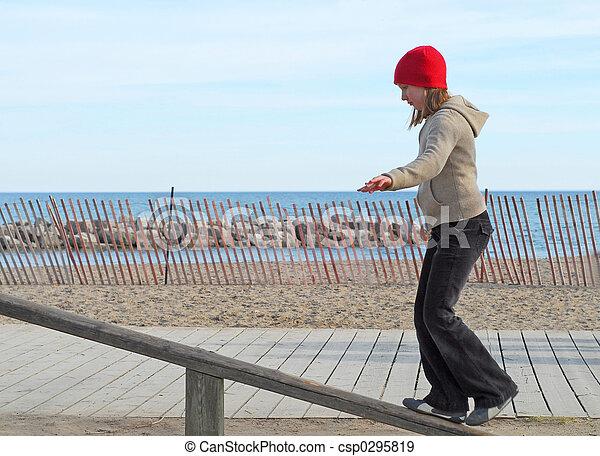 Girl balance - csp0295819