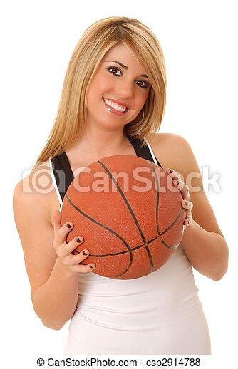 Girl Basketball Player - csp2914788