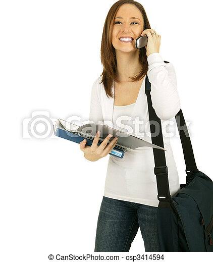 Girl Calling Her School Mate - csp3414594