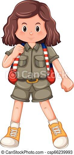 girl, caractère, scout - csp66239993