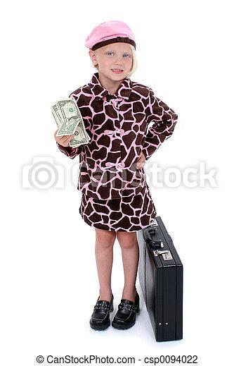 Girl Child Business - csp0094022