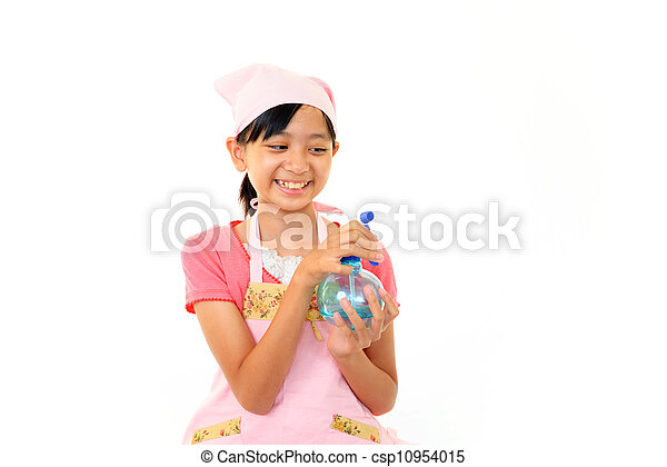 Girl cleaning - csp10954015