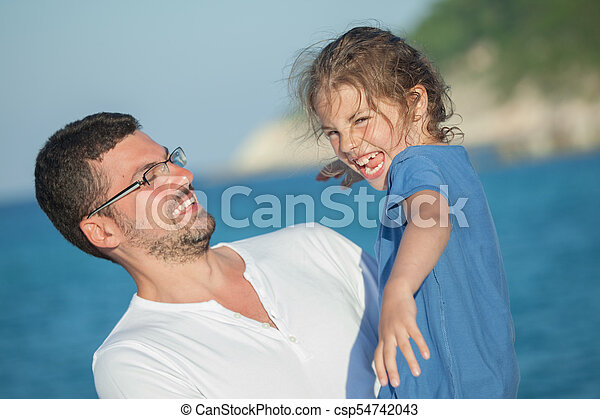 Girl Daughter Father - csp54742043