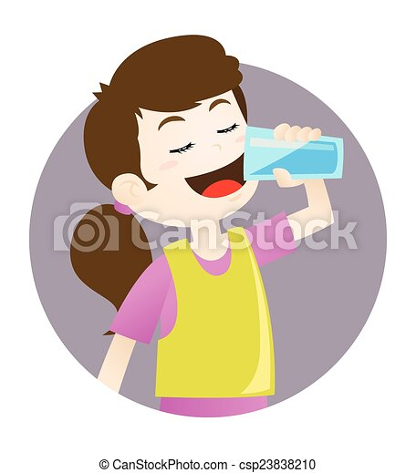 girl drinking water vector illustration of a girl drinking rh canstockphoto ca drinking clipart free drinking clipart images