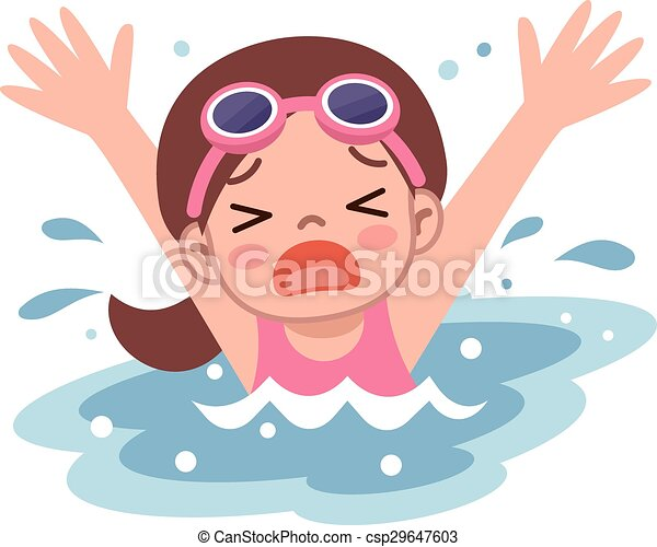 girl drown in water vector illustration rh canstockphoto com drawing clip art jonah and the whale drowning clipart free