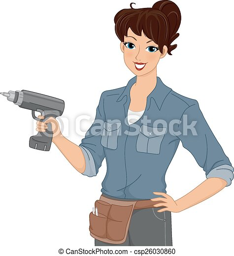 Girl Electric Drill - csp26030860