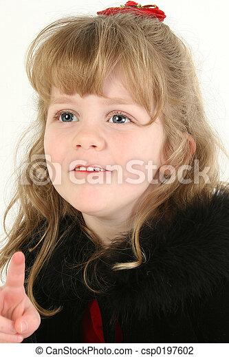 girl, enfant, point - csp0197602