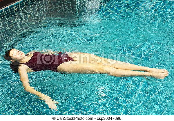 girl exercise sport synchronized swimming