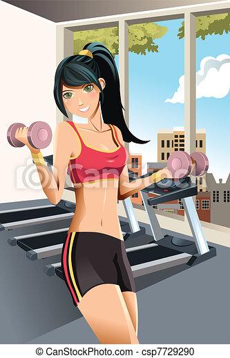 Girl exercising - csp7729290