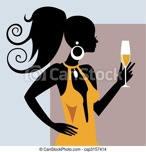 girl, fête - csp3157414