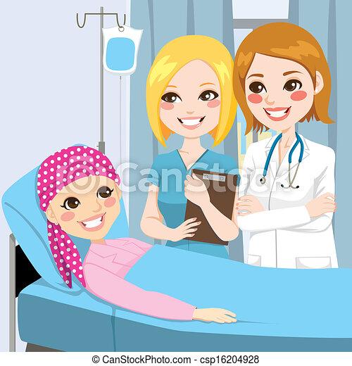 girl, femme, visite, jeune docteur - csp16204928