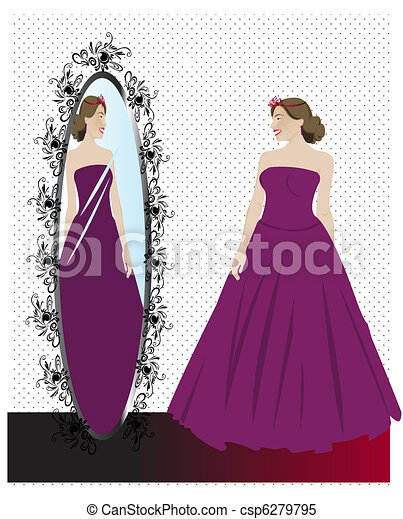 Girl getting ready for Prom - csp6279795