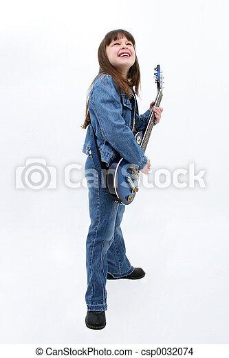 girl, guitare électrique - csp0032074