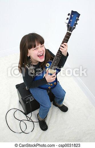 girl, guitare électrique - csp0031823