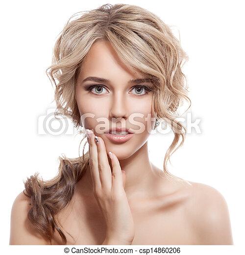 girl., hair., riccio, sano, lungo, bello, biondo - csp14860206