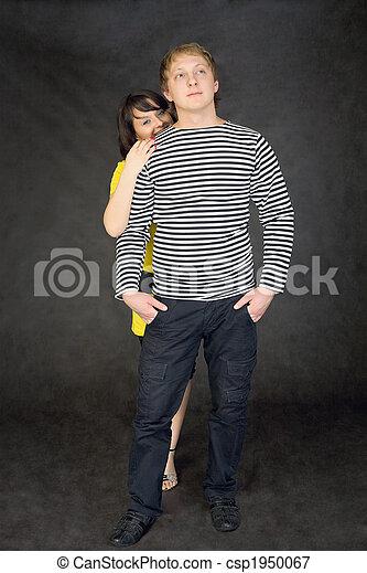 Girl hides for the boyfriend - csp1950067
