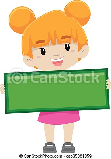 vector illustration of a girl holding subtraction symbol clipart rh canstockphoto com addition subtraction clipart subtraction sign clipart