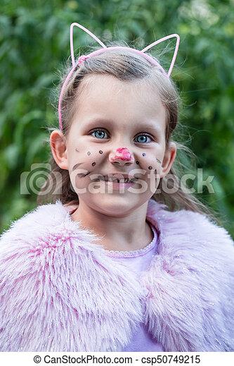 girl in a cat's suit - csp50749215