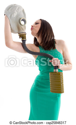 Girl in a green dress - csp25846317