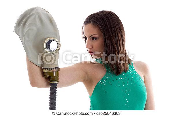 Girl in a green dress - csp25846303