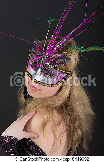 girl in a mask - csp18449632