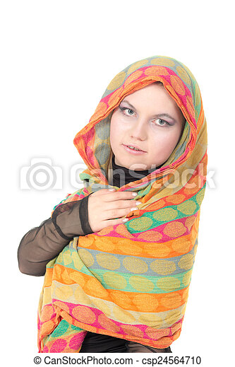 girl in a scarf - csp24564710