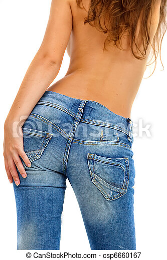 Girl in blue jeans - csp6660167