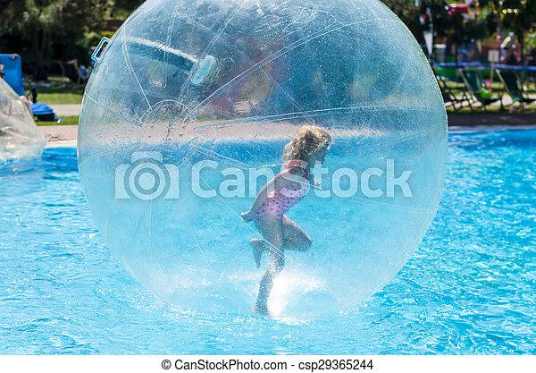 girl in bubble - csp29365244