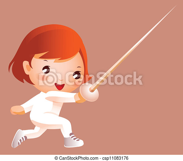 Foilsman Royalty Free Vector Clip Art Illustration - Olympic Fencing Clipart  - Free Transparent PNG Clipart Images Download