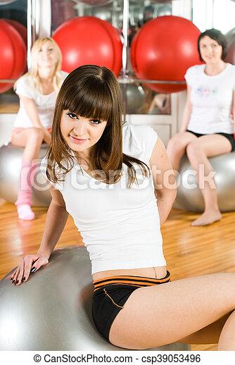 Girl in fitness center - csp39053496