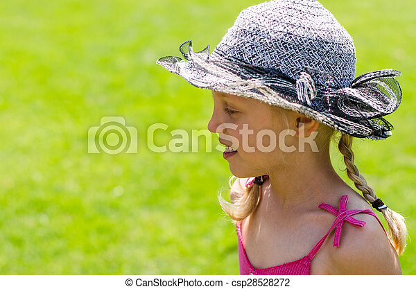 girl in hat - csp28528272