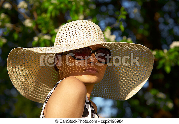 girl in hat - csp2496984