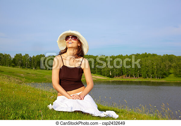 Girl in Nature - csp2432649